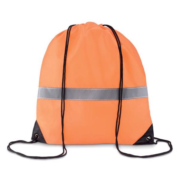 Batoh se šňůrkami a reflexním Stripe - neon orange