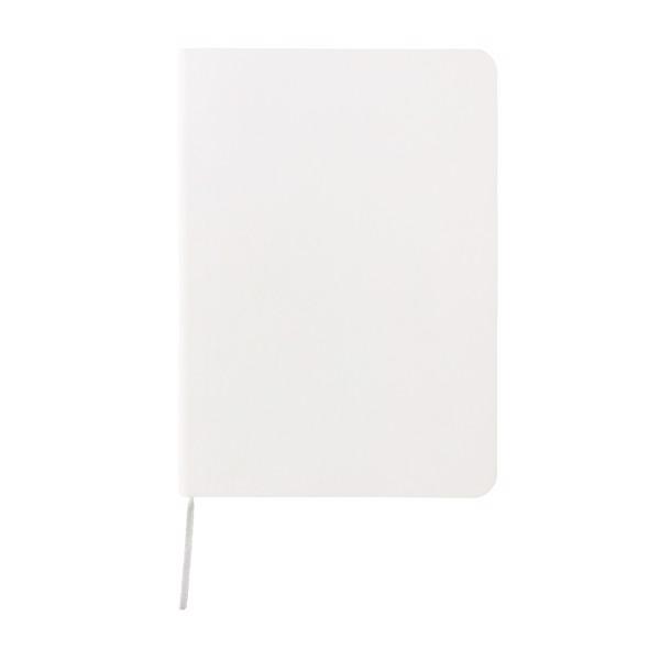 Standard, rugalmas, puhafedelű jegyzetfüzet - Fehér