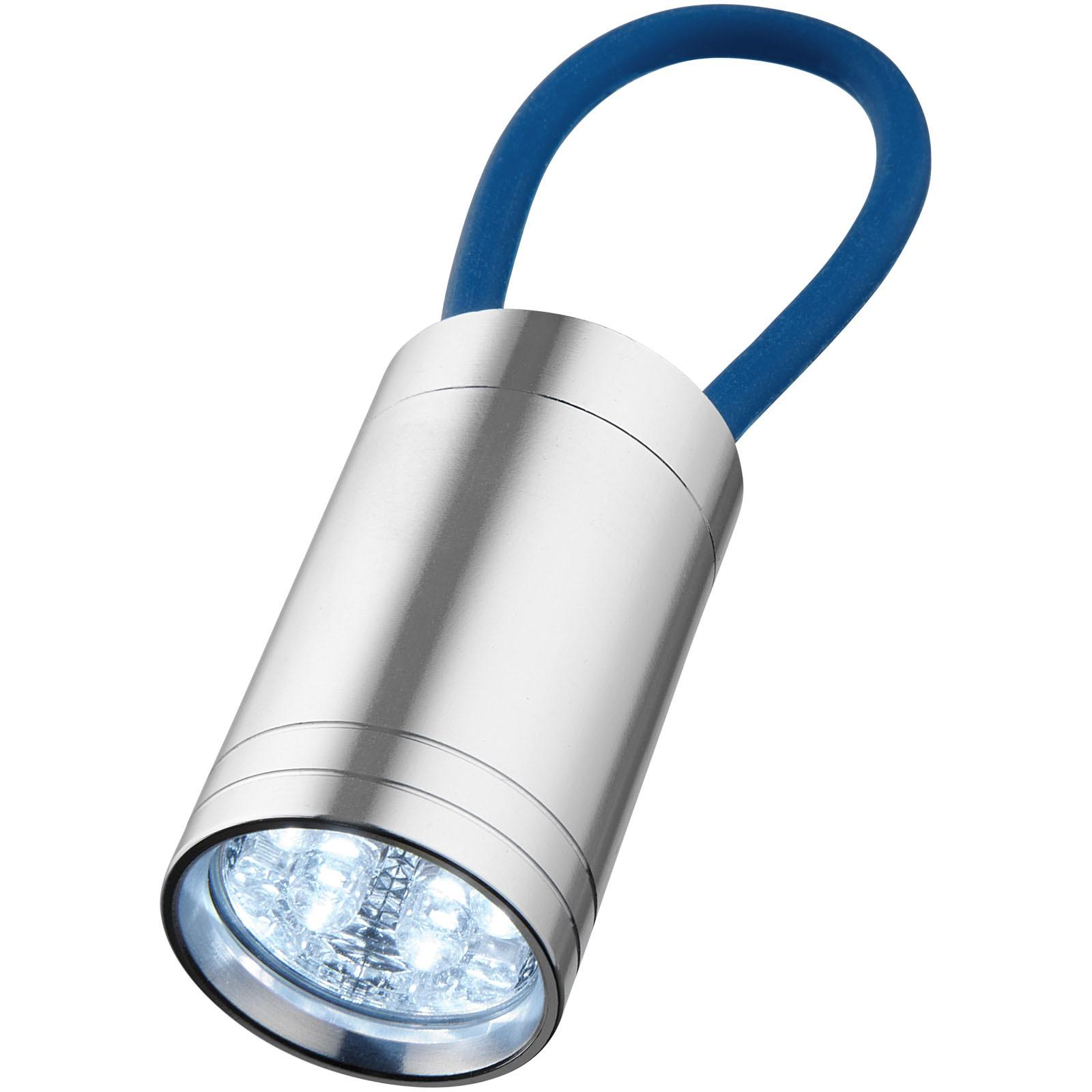 Vela 6-LED torch with glow strap - Royal blue