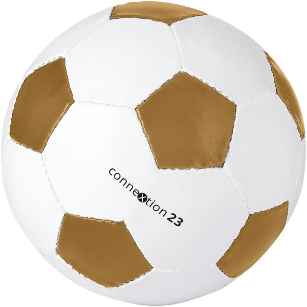 Curve size 5 football - Gold / White