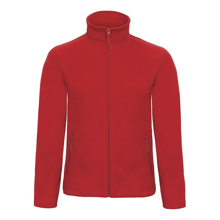 Men's Polar Fleece 280 g/m2 Micro Fleece Zip Id.501 Fui50 - Red / XS