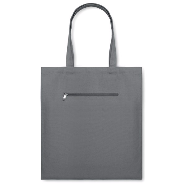 Shopping bag in canvas Moura - Grey