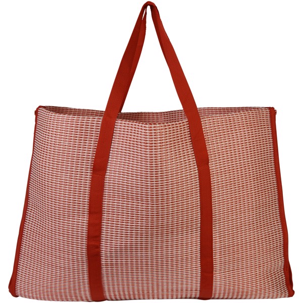Bonbini foldable beach tote and mat - Red