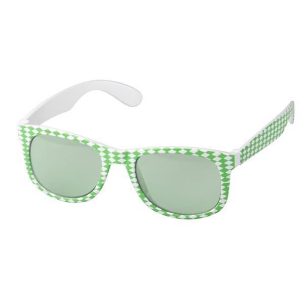 """Fun Glasses """"Bavaria"""" - White / Green"""