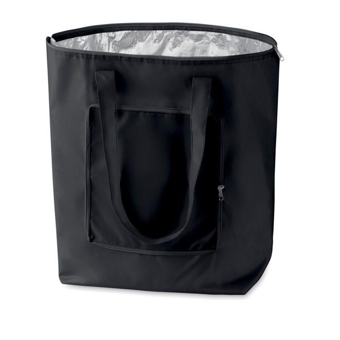 Foldable cooler shopping bag Plicool - Black