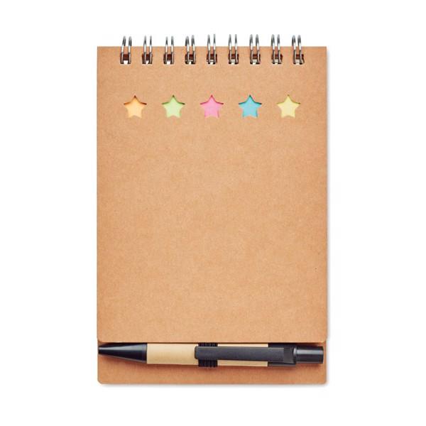 Zápisník s perem a note-it. Multibook