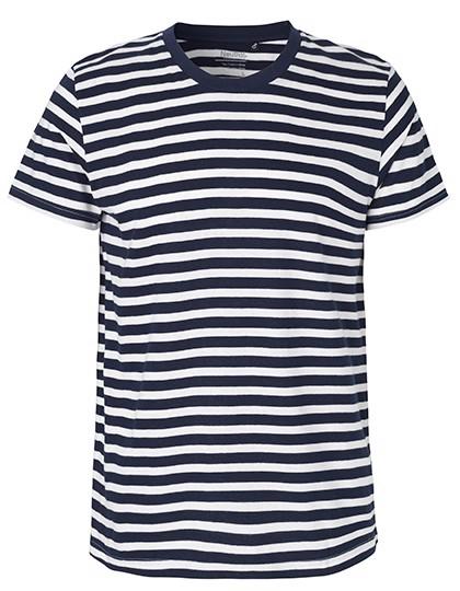 Men`S Fit T-Shirt - White - Navy  / S