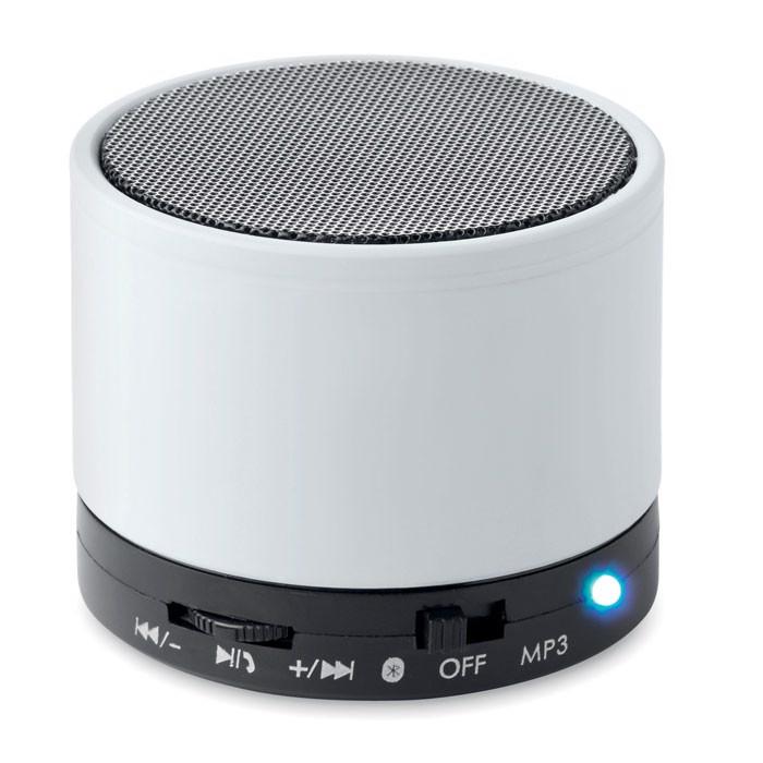 Boxă rotundă Bluetooth Round Bass - white