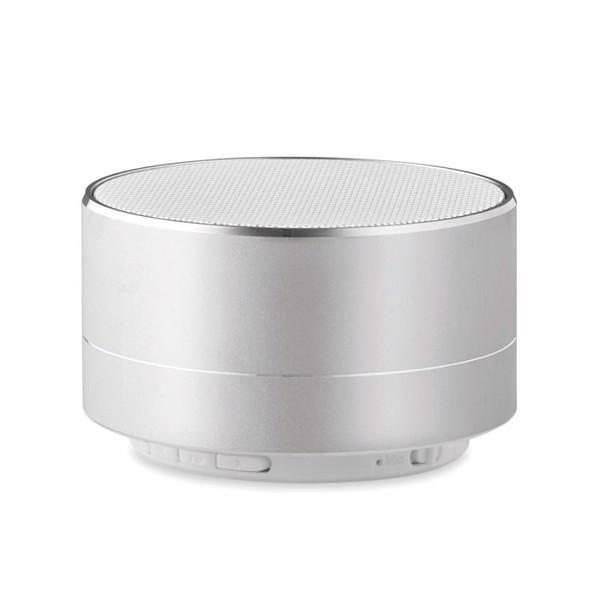 Okrągły głośnik Sound - srebrny mat