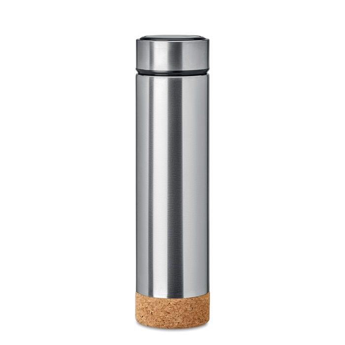Double wall bottle 500 ml Pole Cork - Matt Silver