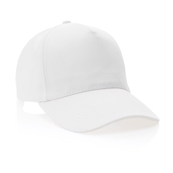 Impact 5panel 280gr Recycled cotton cap with AWARE™ tracer - White