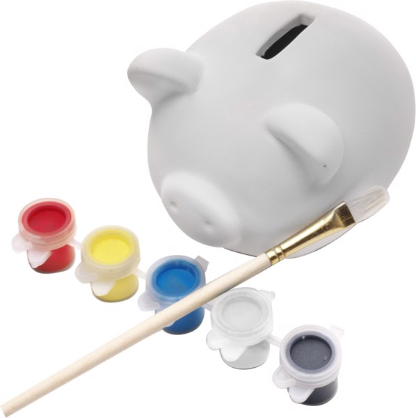 Plaster piggy bank