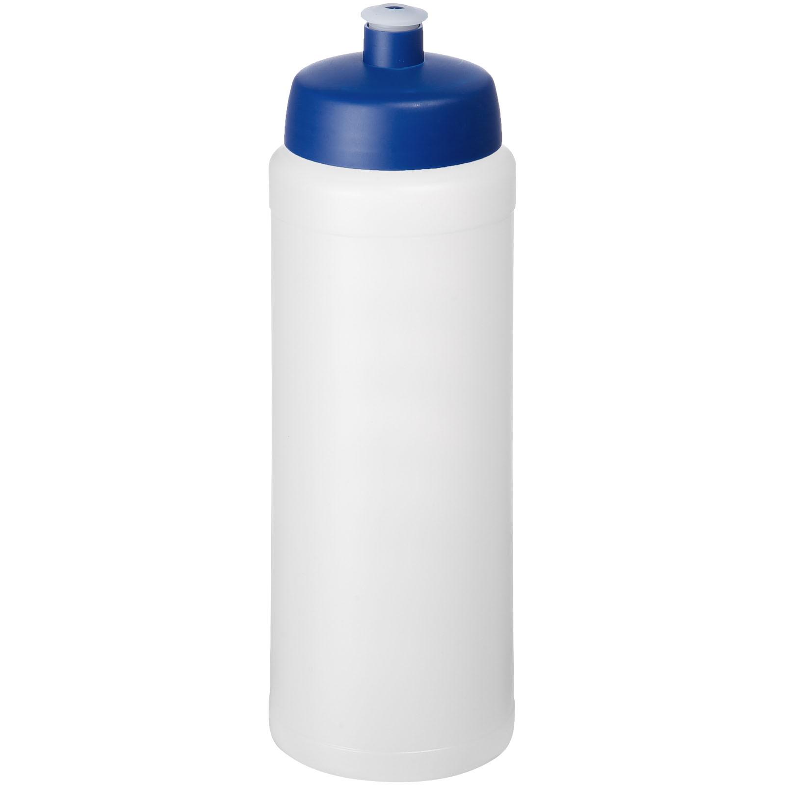 Baseline® Plus grip 750 ml sports lid sport bottle - Transparent / Blue