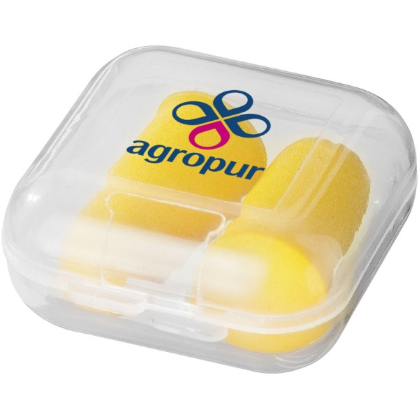 Serenity earplugs with travel case - Yellow