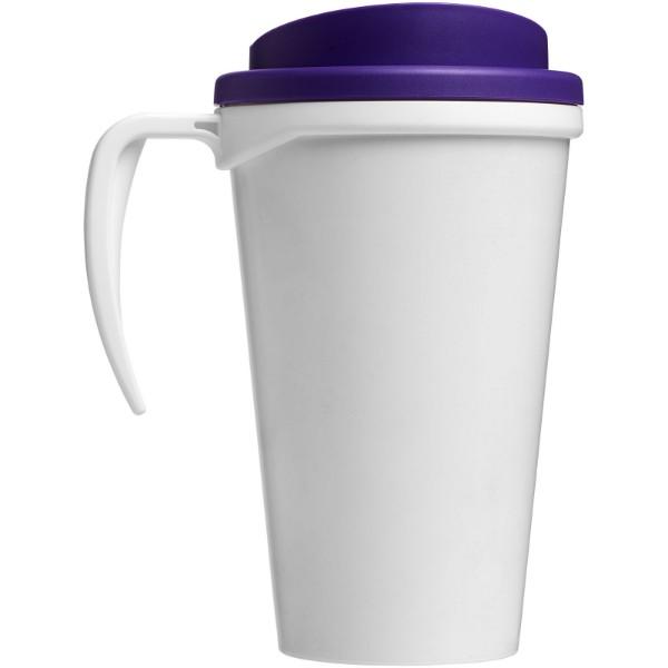 Brite-Americano® Vaso térmico grande de 350 ml - Blanco / Morado