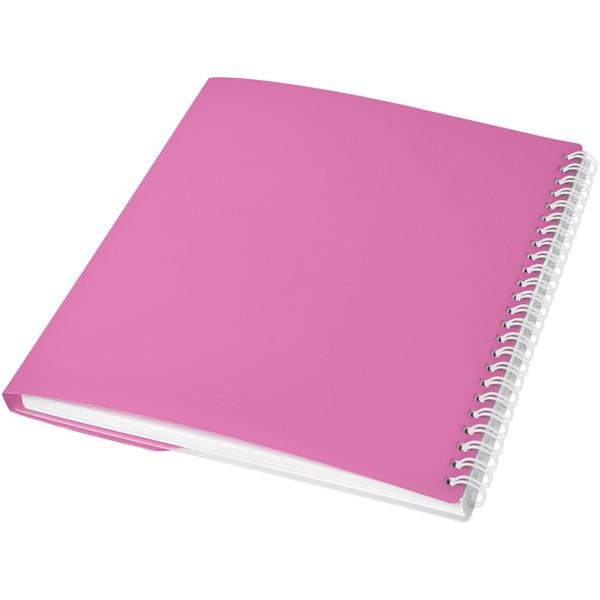 Poznámkový blok Curve A5 - Růžová / Bílá