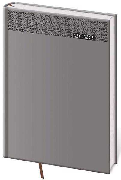 Denní diář A5 Gommato šedý 2022