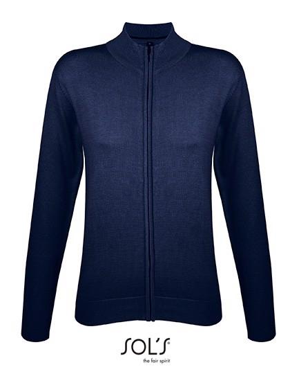 Zipped Knitted Cardigan Gordon Women - Navy / XL