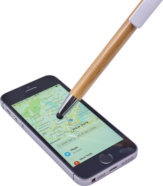 Bolígrafo de bambú y puntero táctil - Green