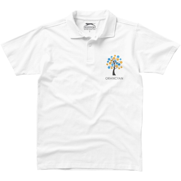 Let short sleeve men's jersey polo - White / S
