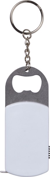 Schlüsselanhänger '3 in 1' aus Kunststoff - White