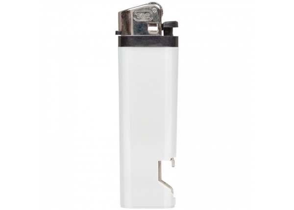 Flint lighter-bottle opener - White