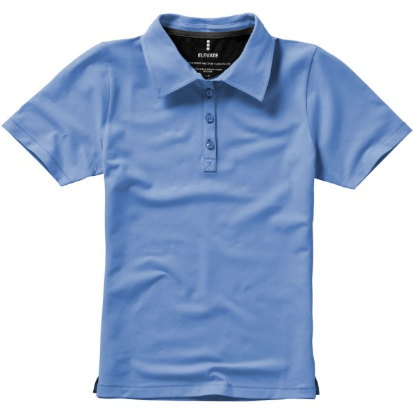 Markham short sleeve women's stretch polo - Light Blue / XXL