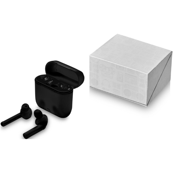 Essos True Wireless auto pair earbuds with case - Solid black
