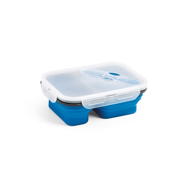 DILL. Retractable airtight container 480 and 760 ml - Blue