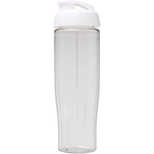 Sportovní láhev s vyklápěcím víčkem H2O Tempo® 700 ml - Průhledná / Bílá