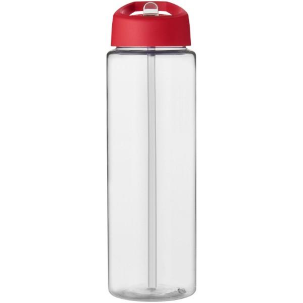 H2O Vibe 850 ml sportovní lahev s víčkem s hubičkou - Průhledná / Červená s efektem námrazy