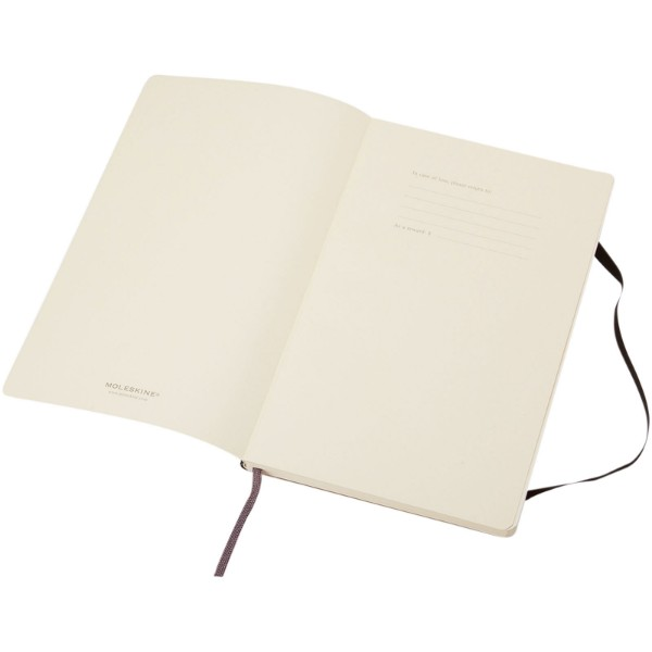 Classic PK soft cover notebook - plain - Solid black