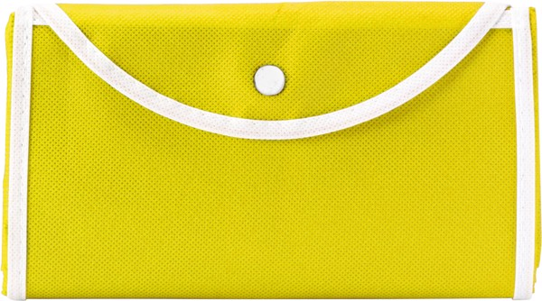 Nonwoven (80 g/m²) foldable shopping bag - Yellow