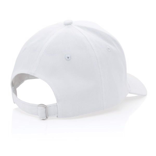 Gorra de algodón reciclado Impact 280gr con trazador AWARE™ - Blanco