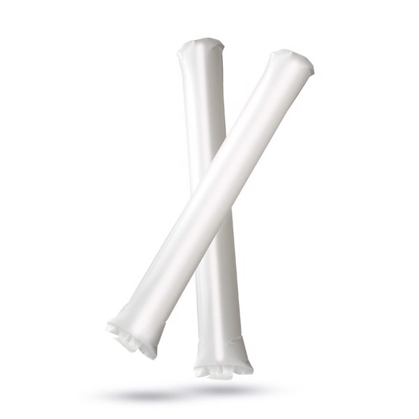 Inflatable cheering stick Bambam - White