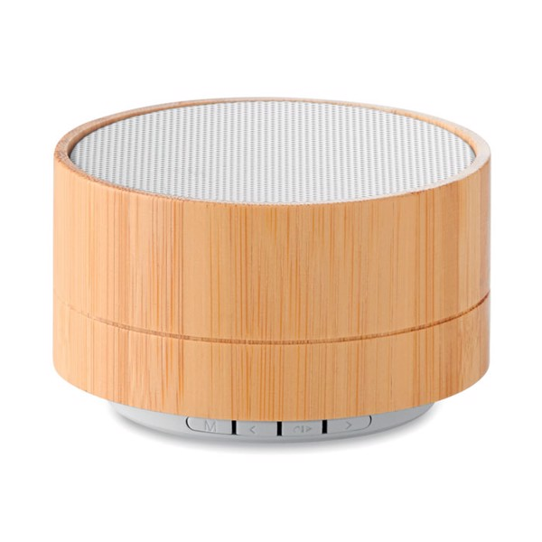 3W Bamboo wireless speaker Sound Bamboo - White