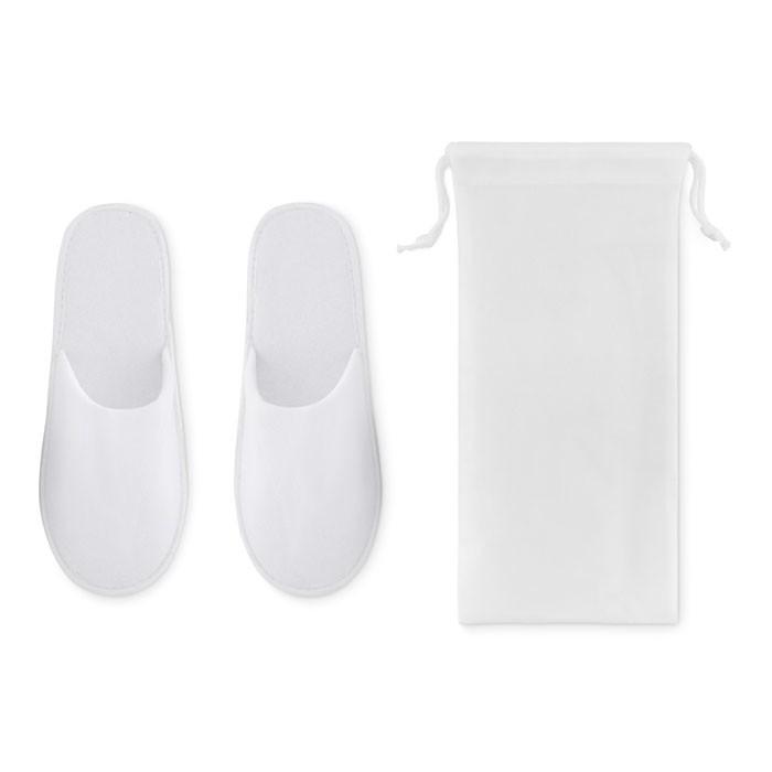 Kapcie w etui Flip Flap - biały