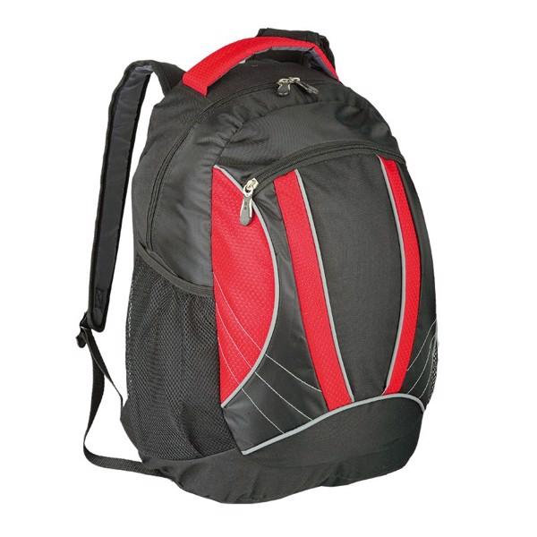 Plecak sportowy El Paso - Czerwony / Czarny