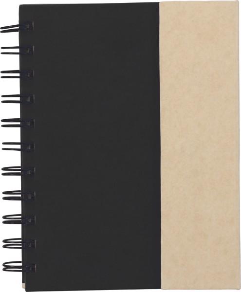Coardboard notebook - Black