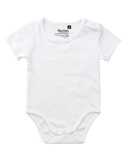 Babies Short Sleeve Bodystocking - White / 92