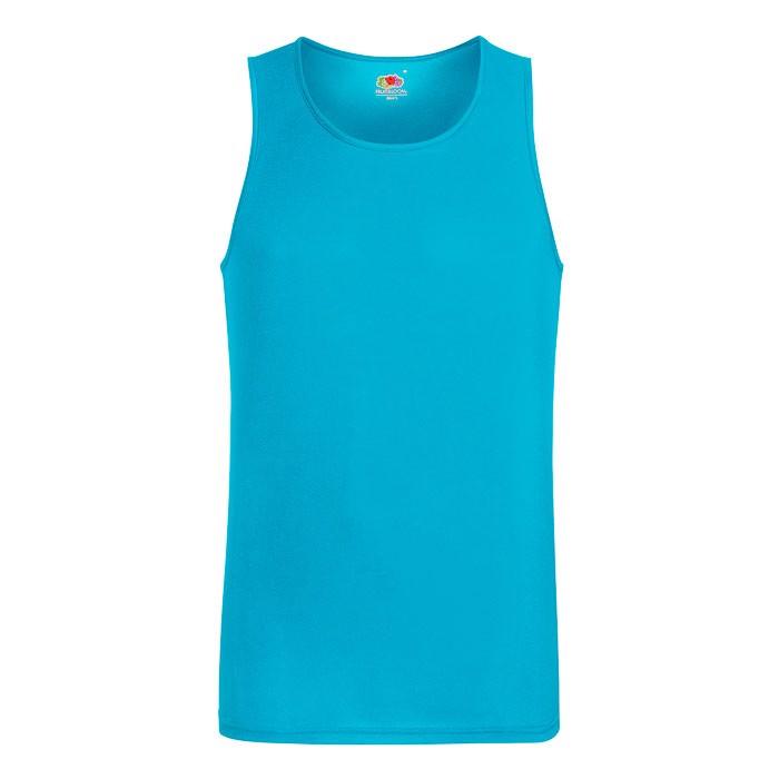 Herren T-Shirt Sport Performance Vest 61-416-0 - Azure Blue / XXL