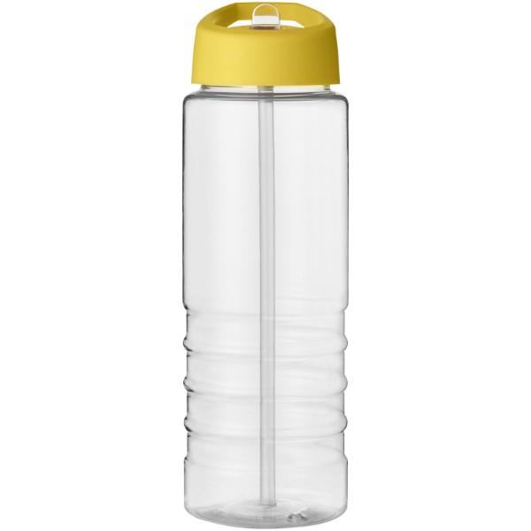 H2O Treble 750 ml sportovní lahev s víčkem s hubičkou - Průhledná / Žlutá
