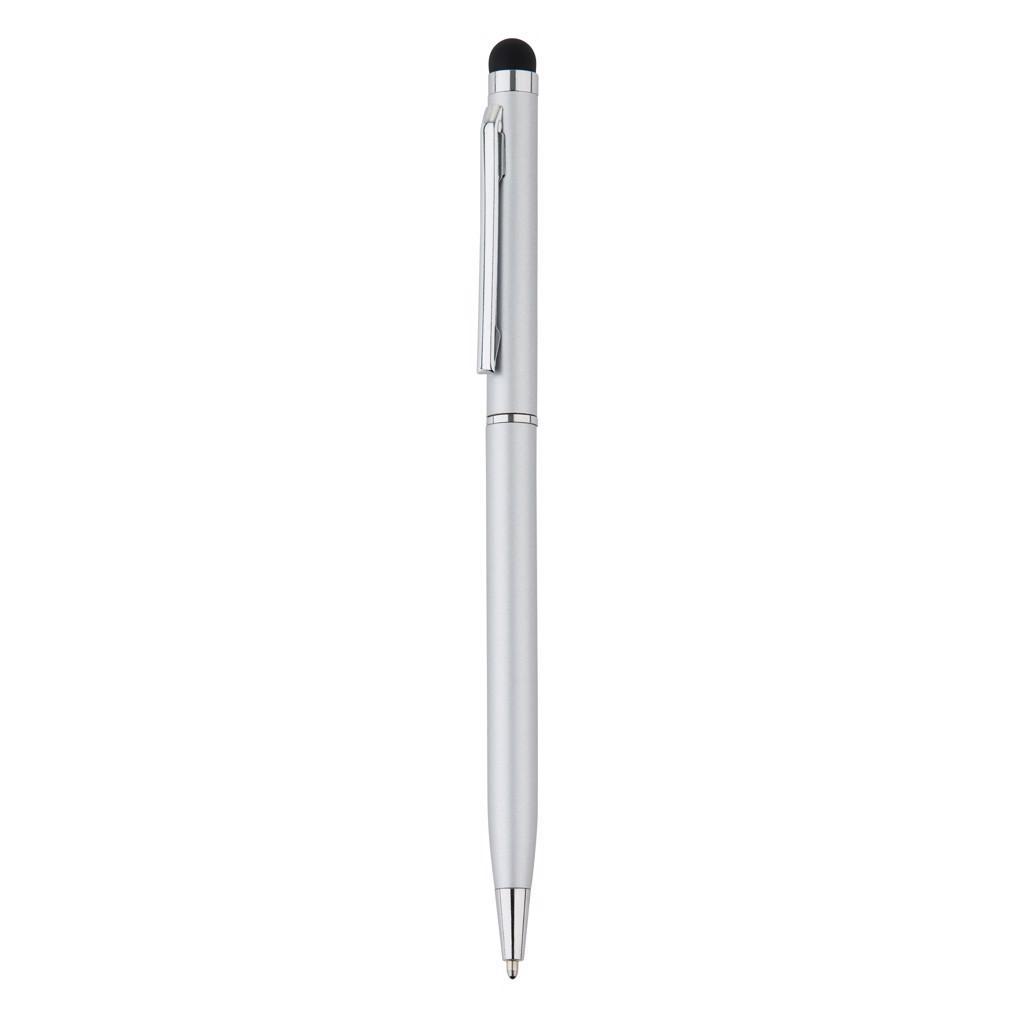 Tenké kovové stylusové pero - Šedá