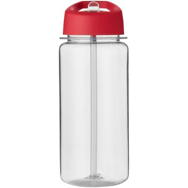 Sportovní láhev s víčkem s hubičkou Octave Tritan™ 600 ml - Průhledná / Červená s efektem námrazy