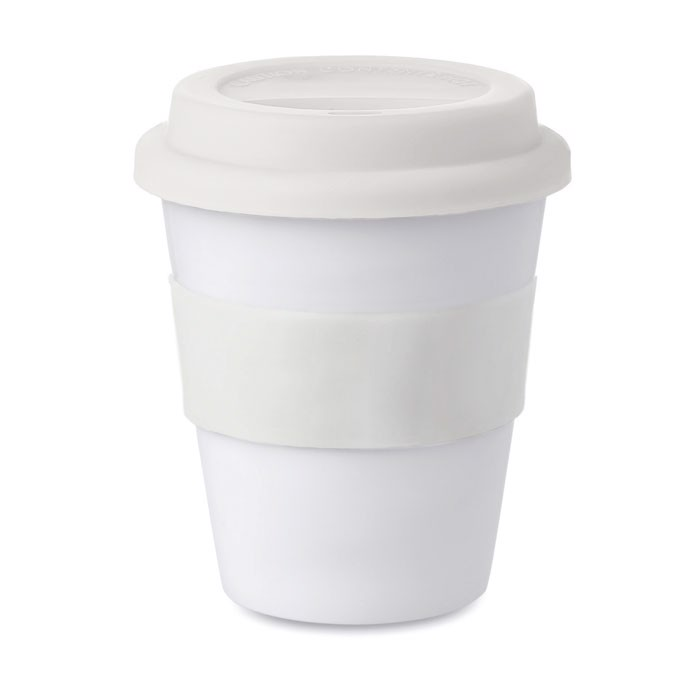 PP tumbler with silicone lid Astoria - White