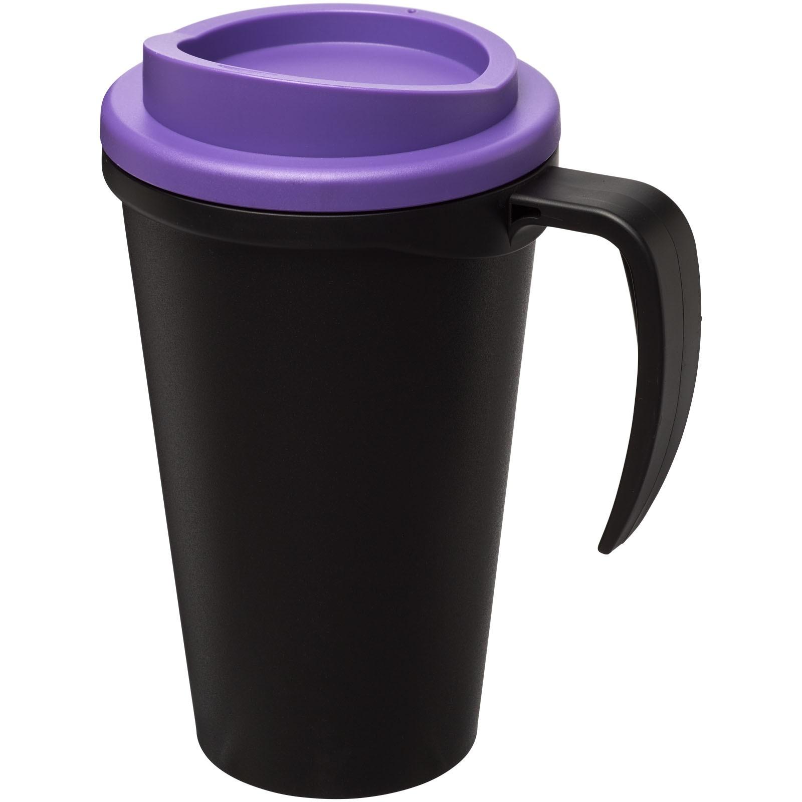 Americano® Vaso térmico grande de 350 ml - Negro intenso / Morado