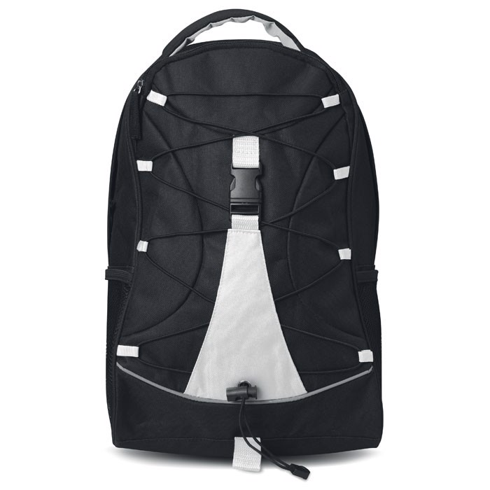 Czarny plecak Monte Lema - biały