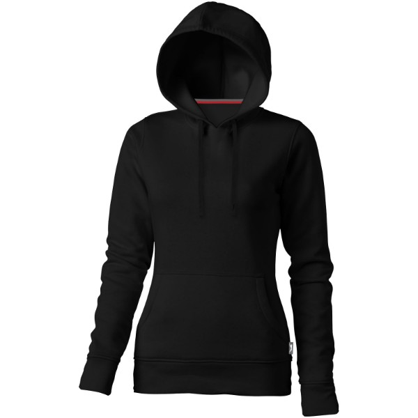 Alley hooded ladies sweater - Solid black / XL