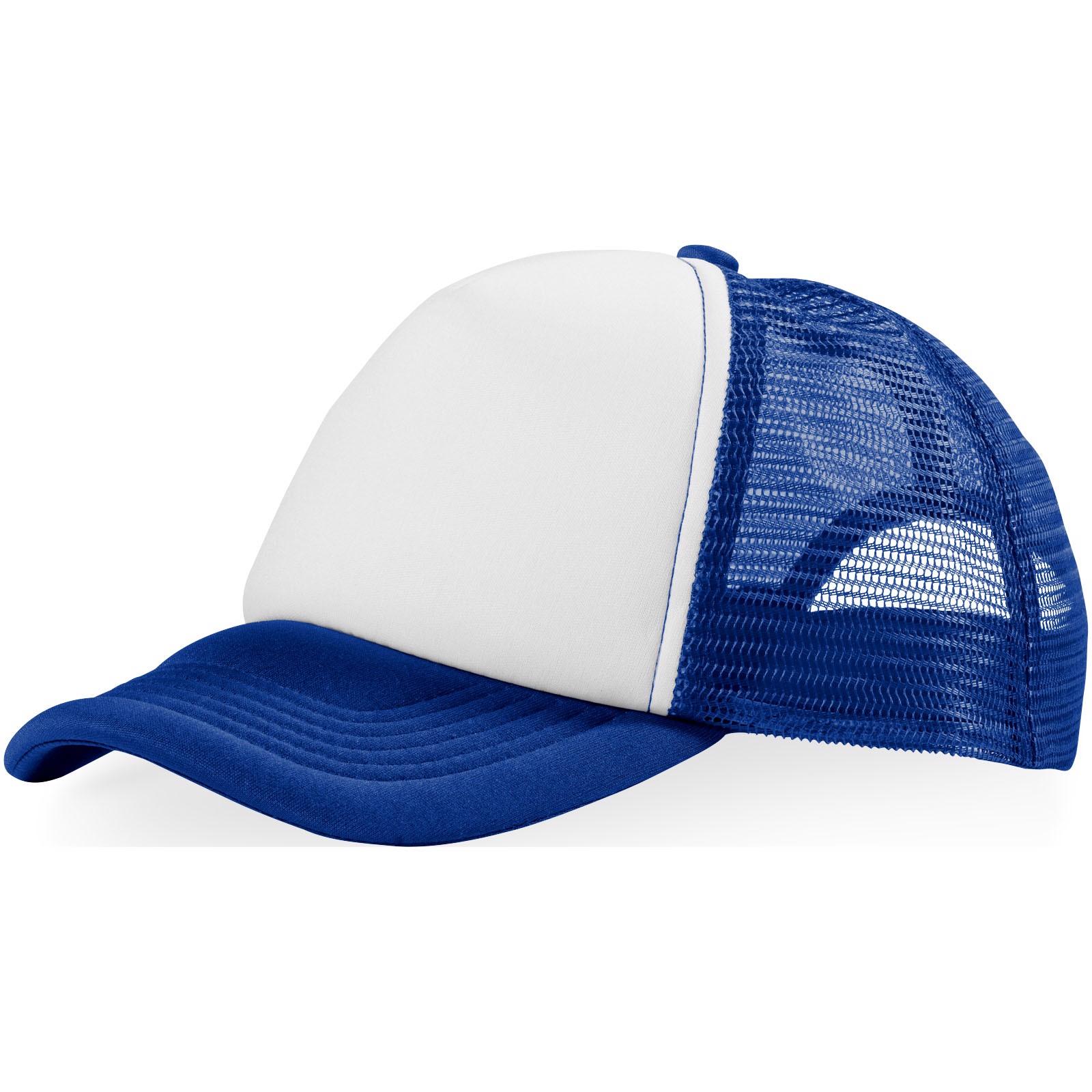 Trucker 5 panel cap - Royal blue / White