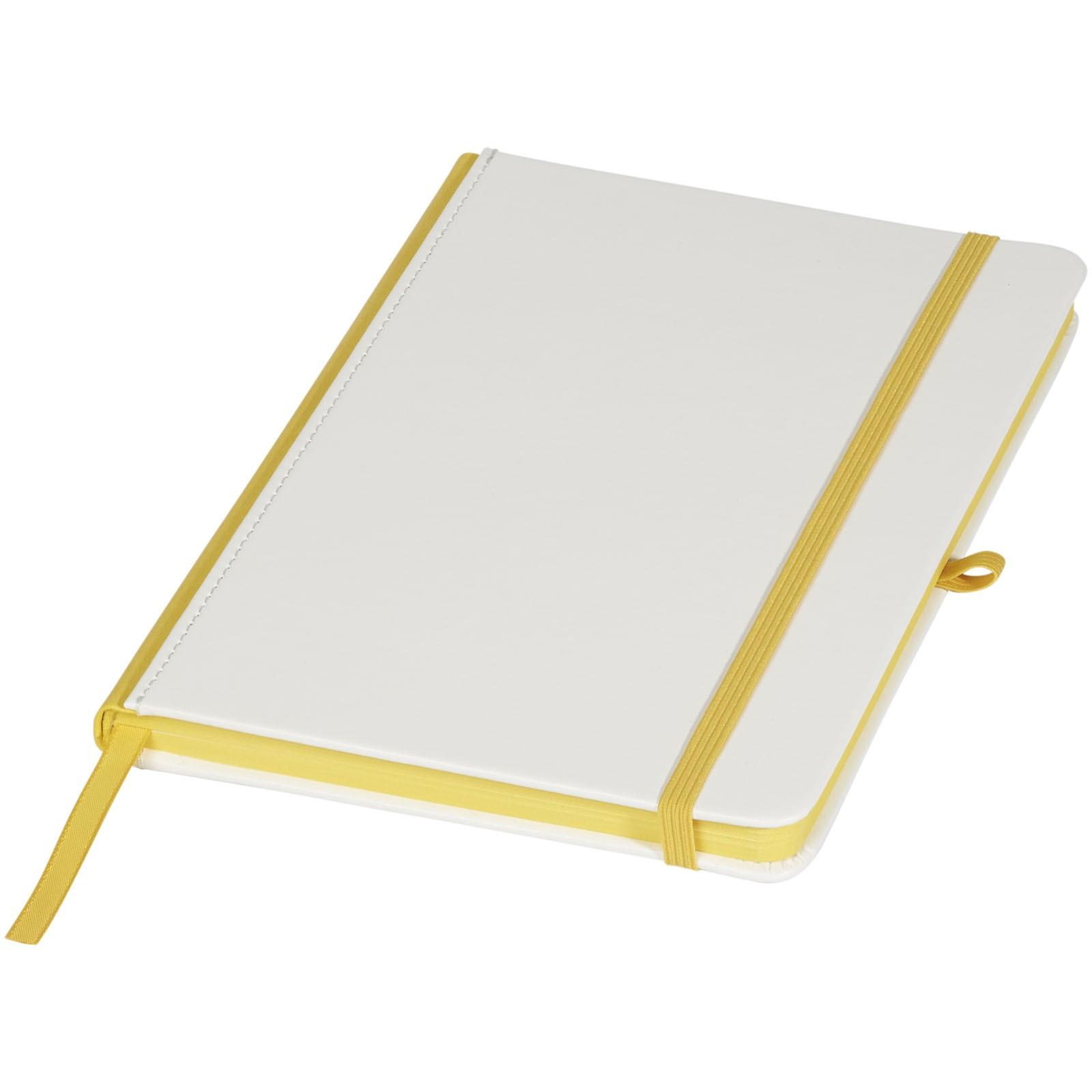 A5 Notizbuch für Digitaldruck - Weiss / Gelb